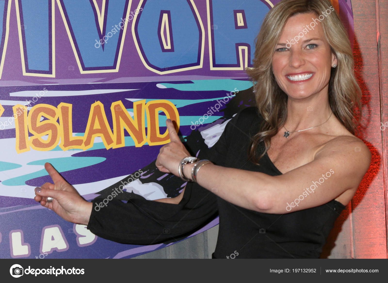 Los Angeles Května Angela Perkinse Survivor Ghost Island Finále Foto
