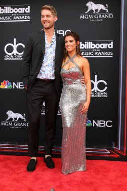LAS VEGAS - MAY 20:  Brett Young, Taylor Mills at the 2018 Billboard Music Awards at MGM Grand Garden Arena on May 20, 2018 in Las Vegas, NV
