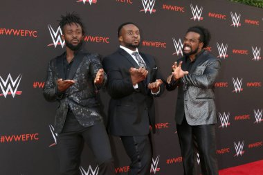 LOS ANGELES - JUN 6:  Kofi Kingston, Big E, Xavier Woods, The New Day at the WWE For Your Consideration Event at the TV Academy Saban Media Center on June 6, 2018 in North Hollywood, CA