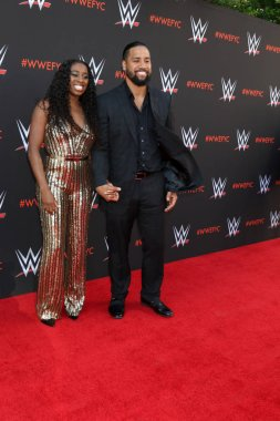 LOS ANGELES - JUN 6:  Naomi Fatu, Jimmy Uso, Jonathan Solofa Fatu Jr at the WWE For Your Consideration Event at the TV Academy Saban Media Center on June 6, 2018 in North Hollywood, CA