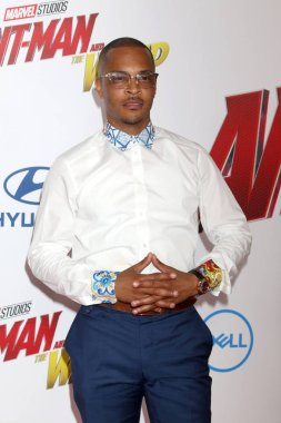LOS ANGELES - JUN 25:  TI, Clifford Joseph Harris Jr, Tip Harris at the Ant-Man and the Wasp Premiere at the El Capitan Theater on June 25, 2018 in Los Angeles, CA