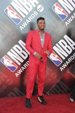 LOS ANGELES - JUN 25:  Donovan Mitchell at the 2018 NBA Awards at the Barker Hanger on June 25, 2018 in Santa Monica, CA