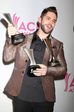 LAS VEGAS - APR 2:  Thomas Rhett at the Academy of Country Music Awards 2017 at T-Mobile Arena on April 2, 2017 in Las Vegas, NV