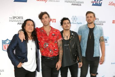 LOS ANGELES - JUL 17:  American Authors Band at the 4th Annual Sports Humanitarian Awards on The Novo on July 17, 2018 in Los Angeles, CA