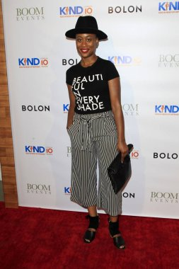 LOS ANGELES - AUG 4:  Zuri Adele at the Kind Los Angeles: Coming Together for Children Alone at the Helms Design Center on August 4, 2018 in Culver City, C