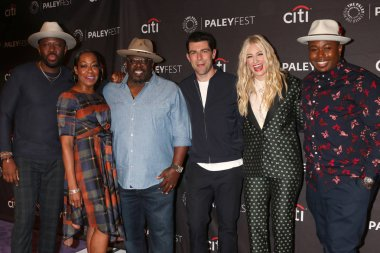 LOS ANGELES - SEP 12:  Sheaun McKinney, Tichina Arnold, Cedric the Entertainer, Max Greenfield, Beth Behrs, Marcel Spears at the 2018 PaleyFest Fall TV Previews - CBS at the Paley Center for Media on September 12, 2018 in Beverly Hills, CA
