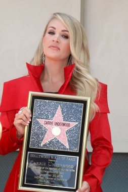 LOS ANGELES - SEP 20:  Carrie Underwood at the Carrie Underwood Star Ceremony on the Hollywood Walk of Fame on September 20, 2018 in Los Angeles, CA
