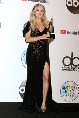 LOS ANGELES - OCT 9:  Carrie Underwood at the 2018 American Music Awards at the Microsoft Theater on October 9, 2018 in Los Angeles, CA
