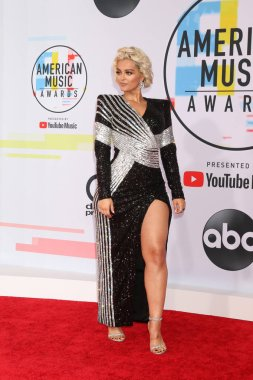 LOS ANGELES - OCT 9:  Bebe Rexha at the 2018 American Music Awards at the Microsoft Theater on October 9, 2018 in Los Angeles, CA