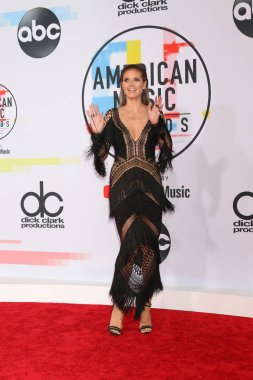 LOS ANGELES - OCT 9:  Heidi Klum at the 2018 American Music Awards at the Microsoft Theater on October 9, 2018 in Los Angeles, CA