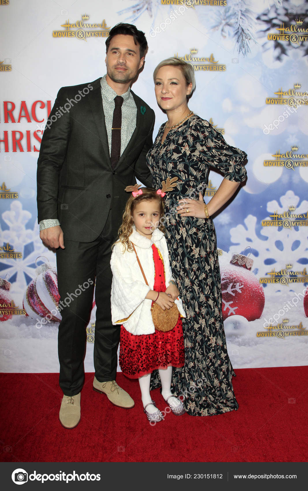 Once Upon A Christmas Miracle.Los Angeles Dec Brett Dalton Wife Daughter Once Christmas