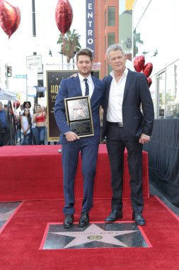 LOS ANGELES - NOV 16:  Michael Buble, David Foster at the Michael Buble Star Ceremony on the Hollywood Walk of Fame on November 16, 2018 in Los Angeles, CA