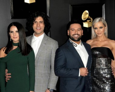 LOS ANGELES - FEB 10:  Abby Law, Dan Smyers, Shay Mooney, Hannah Billingsle at the 61st Grammy Awards at the Staples Center on February 10, 2019 in Los Angeles, CA