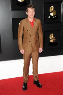 LOS ANGELES - FEB 10:  Charlie Puth at the 61st Grammy Awards at the Staples Center on February 10, 2019 in Los Angeles, CA