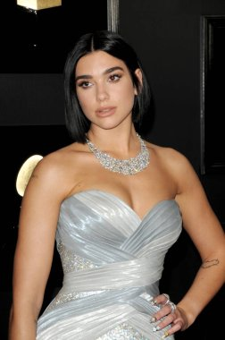 LOS ANGELES - FEB 10:  Dua Lipa at the 61st Grammy Awards at the Staples Center on February 10, 2019 in Los Angeles, CA