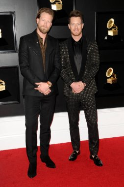 LOS ANGELES - FEB 10:  Florida Georgia Line, Brian Kelley, Tyler Hubbard at the 61st Grammy Awards at the Staples Center on February 10, 2019 in Los Angeles, CA