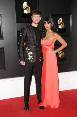 LOS ANGELES - FEB 10:  James Blake, Jameele Jamil at the 61st Grammy Awards at the Staples Center on February 10, 2019 in Los Angeles, CA