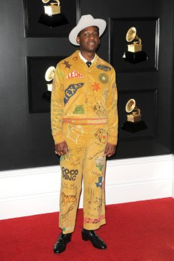 LOS ANGELES - FEB 10:  Leon Bridges at the 61st Grammy Awards at the Staples Center on February 10, 2019 in Los Angeles, CA