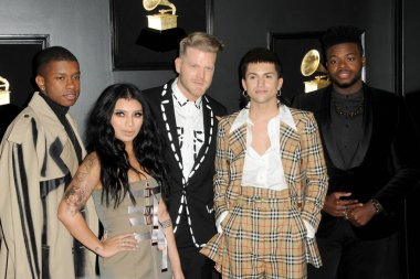 LOS ANGELES - FEB 10:  Pentatonix at the 61st Grammy Awards at the Staples Center on February 10, 2019 in Los Angeles, CA
