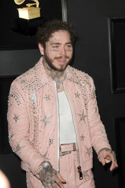 LOS ANGELES - FEB 10:  Post Malone at the 61st Grammy Awards at the Staples Center on February 10, 2019 in Los Angeles, CA