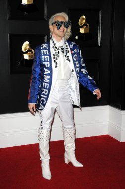 LOS ANGELES - FEB 10:  Ricky Rebel at the 61st Grammy Awards at the Staples Center on February 10, 2019 in Los Angeles, CA