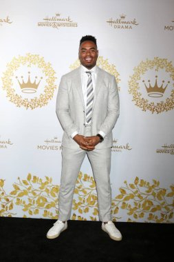 LOS ANGELES - FEB 9:  Rashad Jennings at the Hallmark Winter 2019 TCA Event at the Tournament House on February 9, 2019 in Pasadena, CA