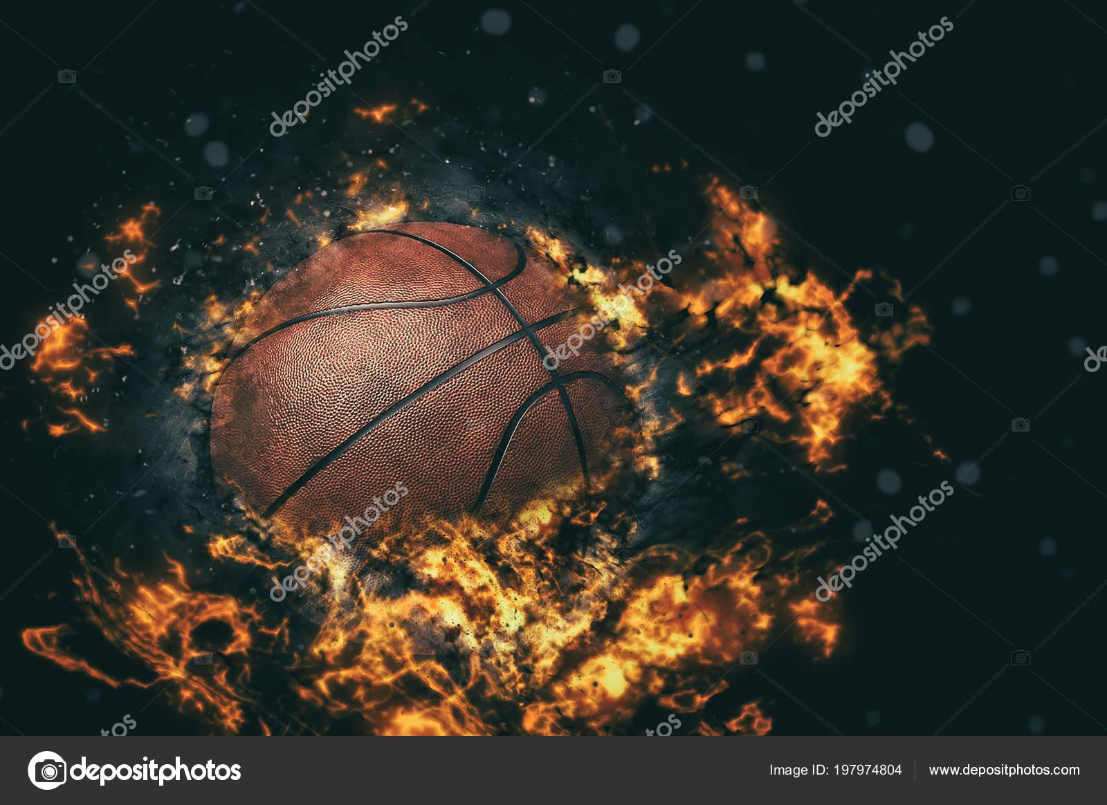 Basketball Fire Wallpaper Basketball Background Fire