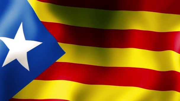 A katalán zászlót lengetve zászló