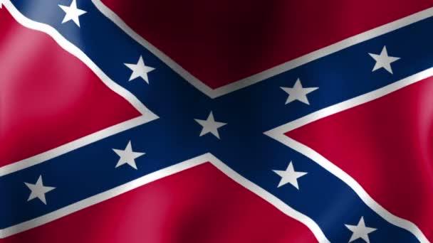 Confederate flag, waving flag
