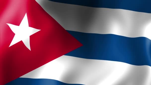 Flag of Cuba, waving flag