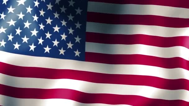 Flag of USA waving