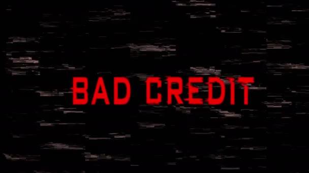 Špatné úvěrové znamení na obrazovce
