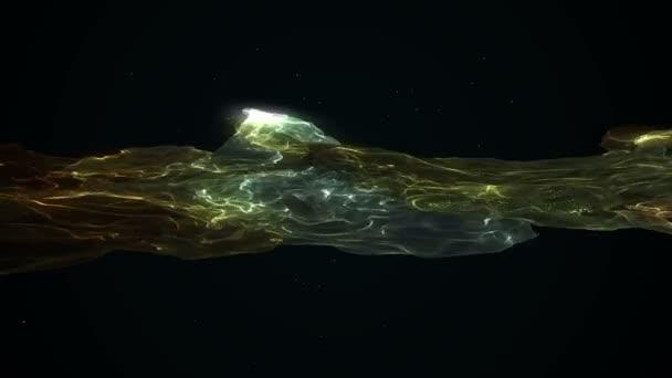 Fraktální abstraktní pozadí 3d vykreslování animace