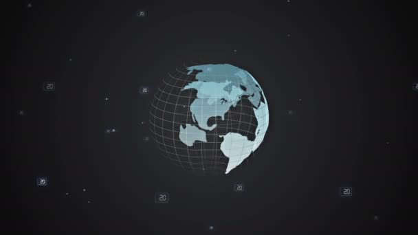 Digital Globe mit einem wachsenden globalen Netzwerk, Business-Technologie