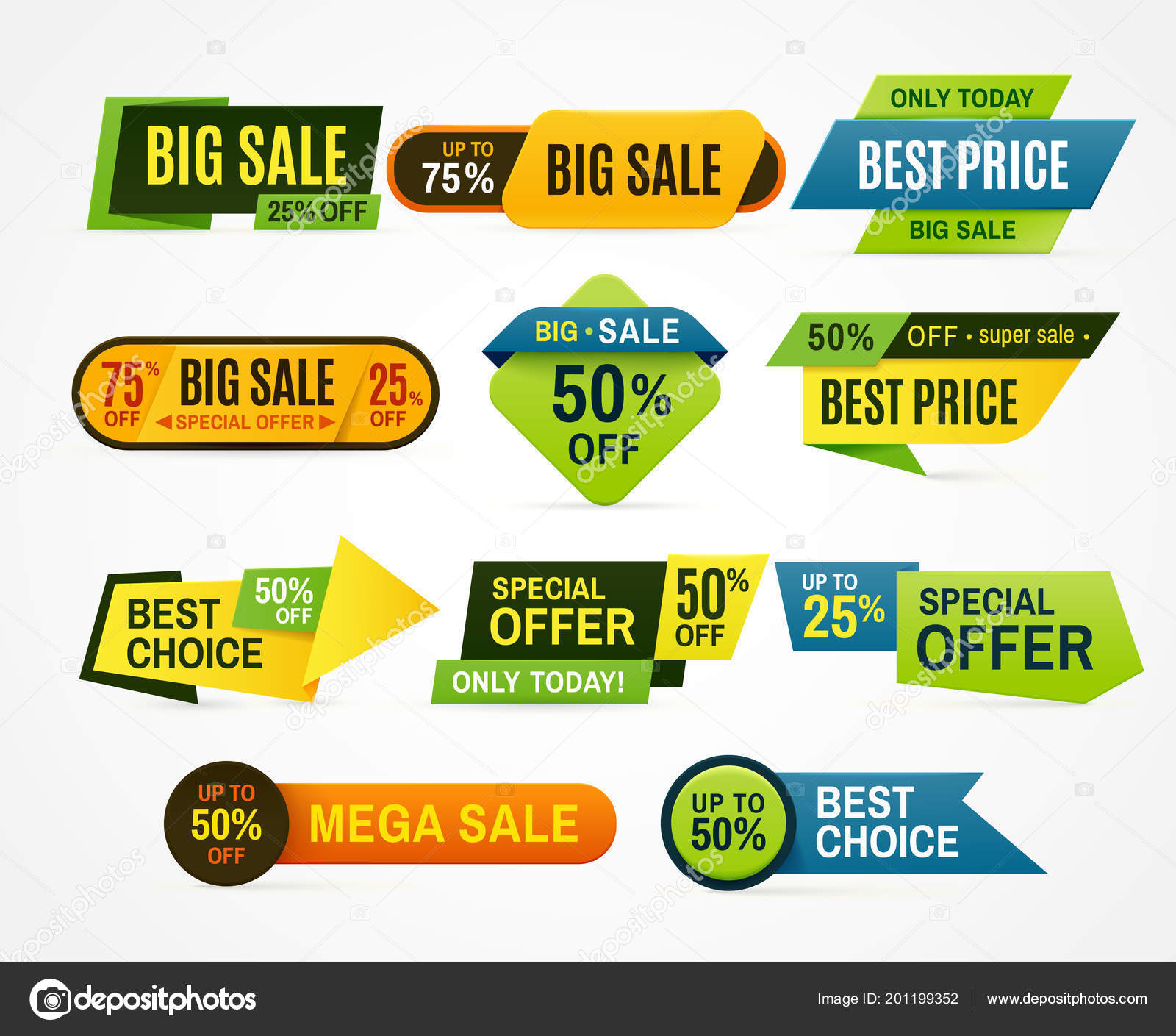 Sale stickers  Price tag label  Banner sticker or abstract
