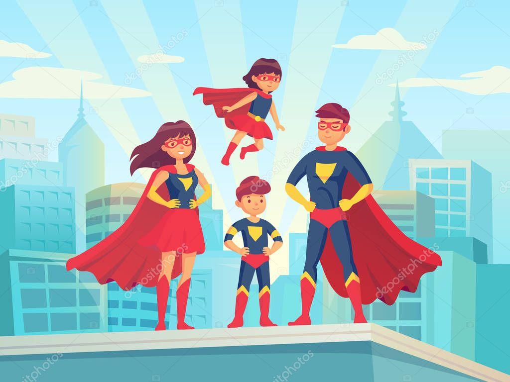 Disney gli incredibili una normae famiglia di supereroi de