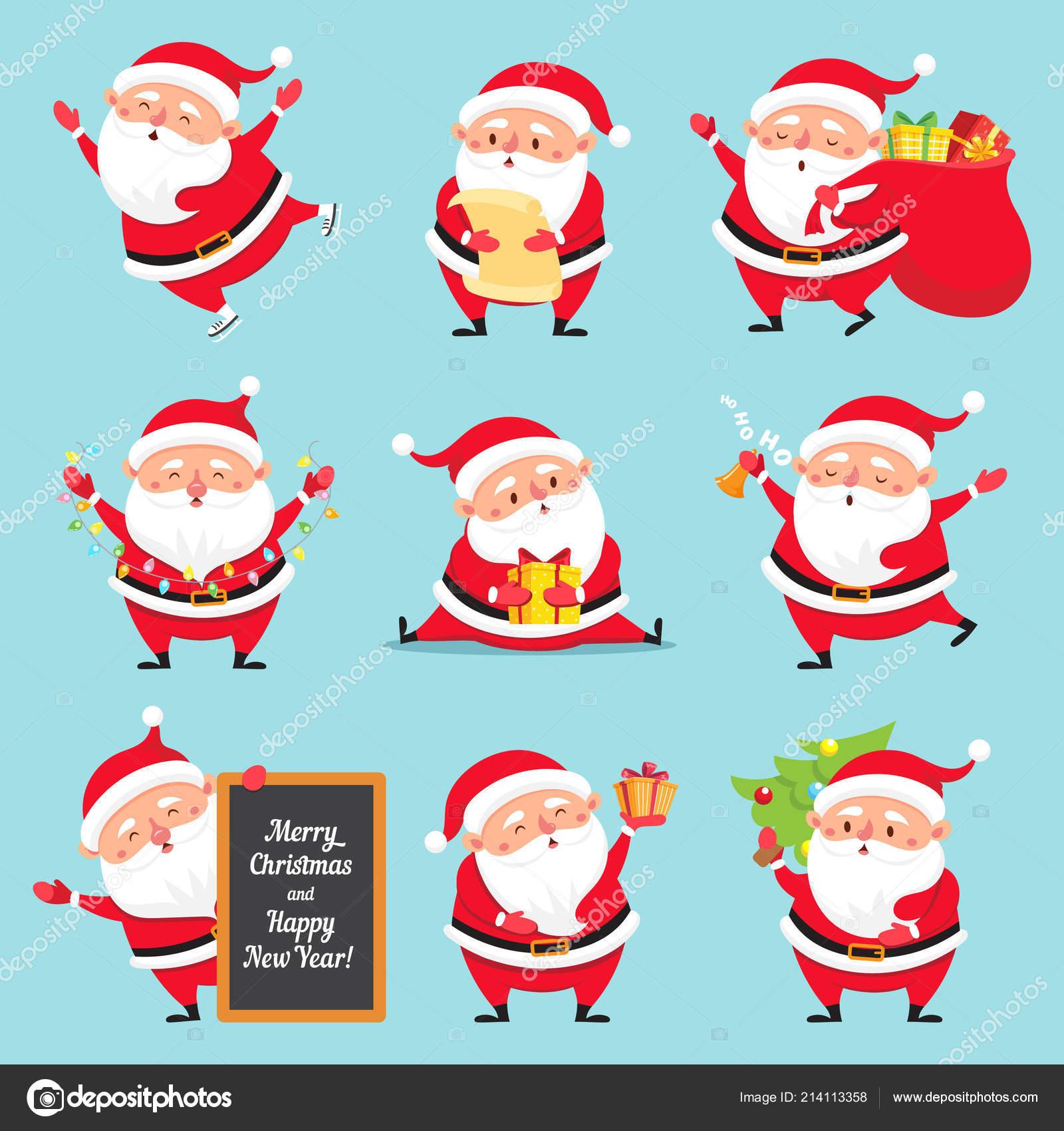 Immagini Del Natale Divertenti.Babbo Natale Del Fumetto Carattere Di Cartolina D Auguri Di