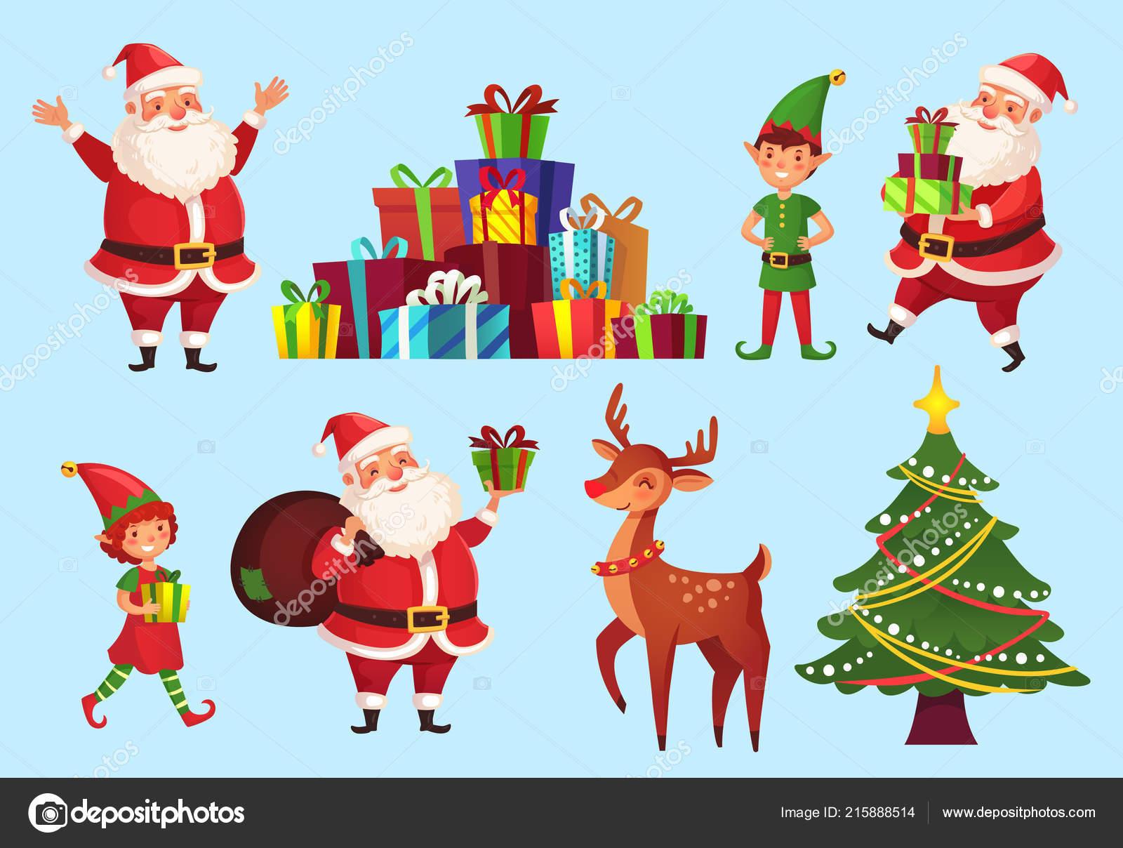 Comic Bilder Weihnachten.Comic Figuren Weihnachten Weihnachtsbaum Mit Weihnachtsmann