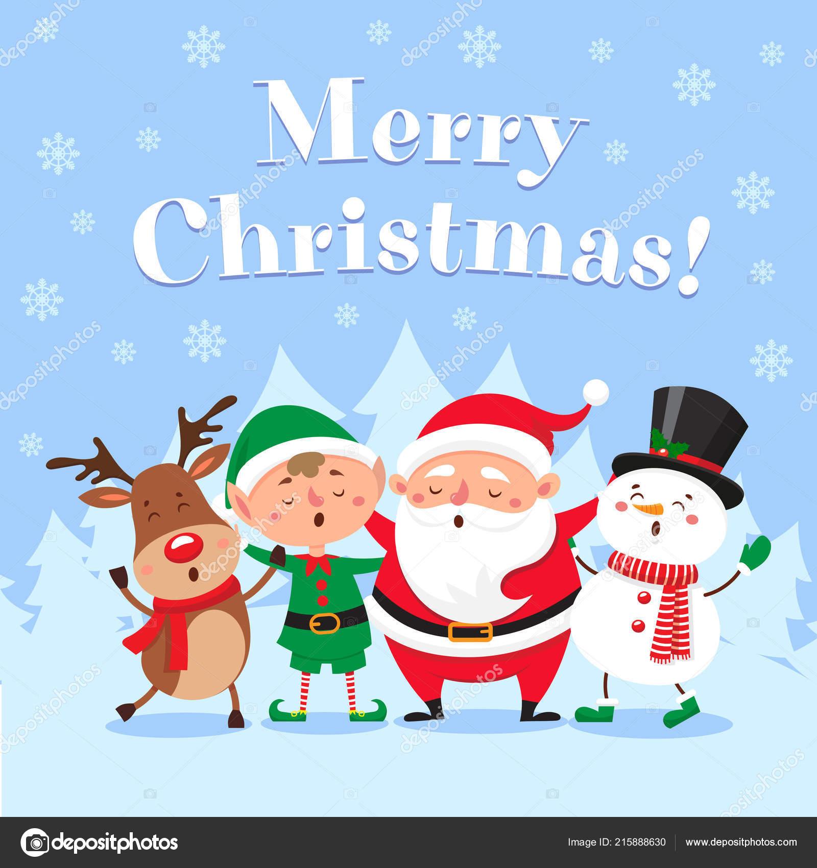Foto Carine Di Natale.Carina Cartolina D Auguri Di Natale Illustrazione Di
