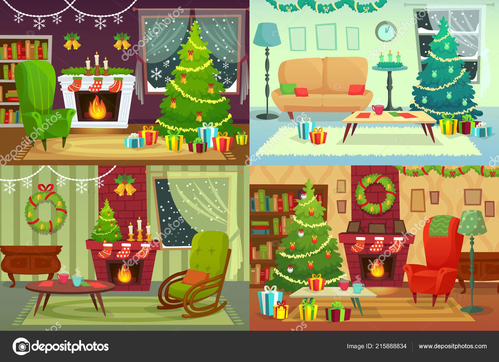 Dessin Intérieur Maison De Noel