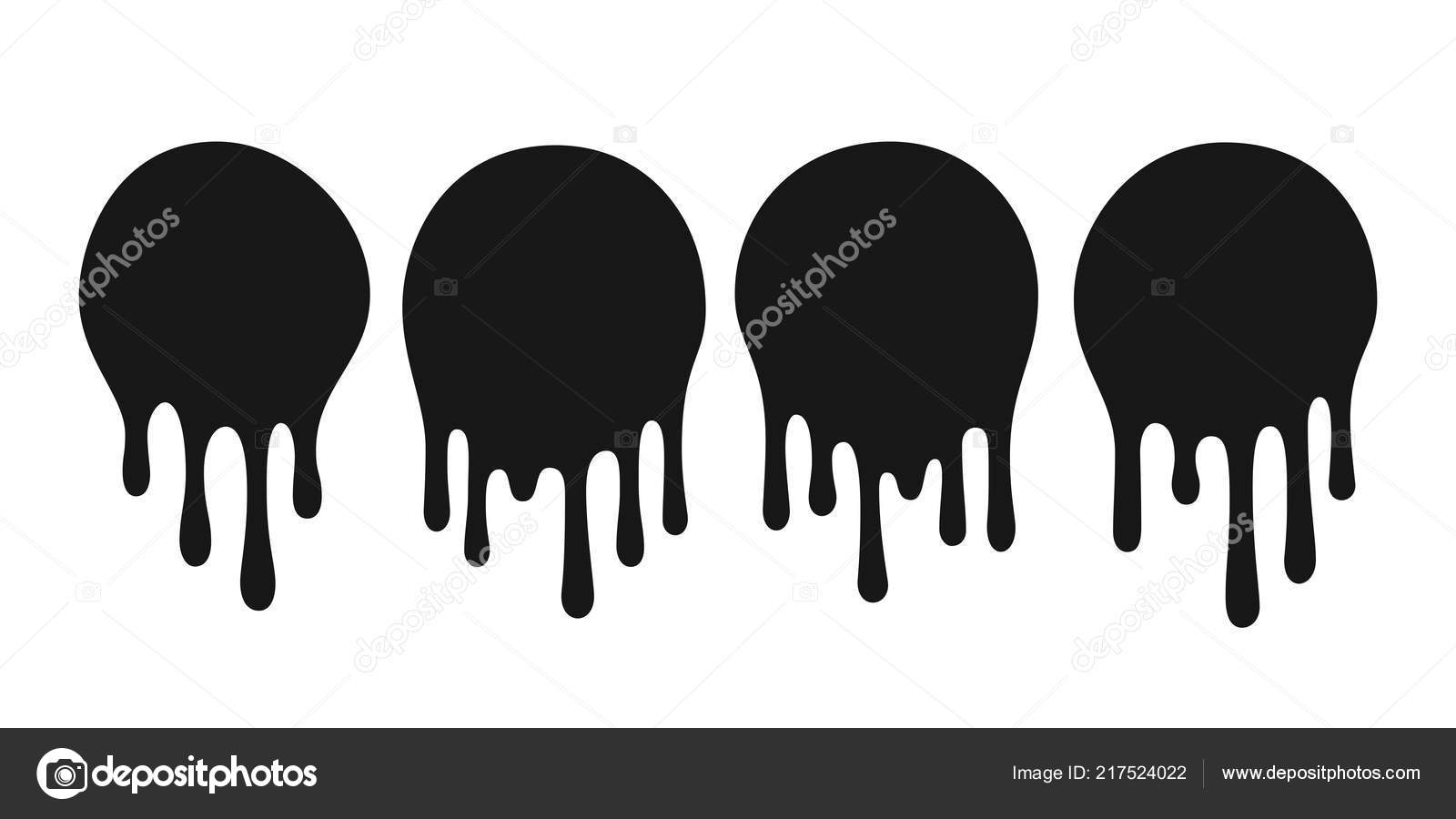Dripping Oil Blob Drip Drop Paint Or Sauce Stain Drips