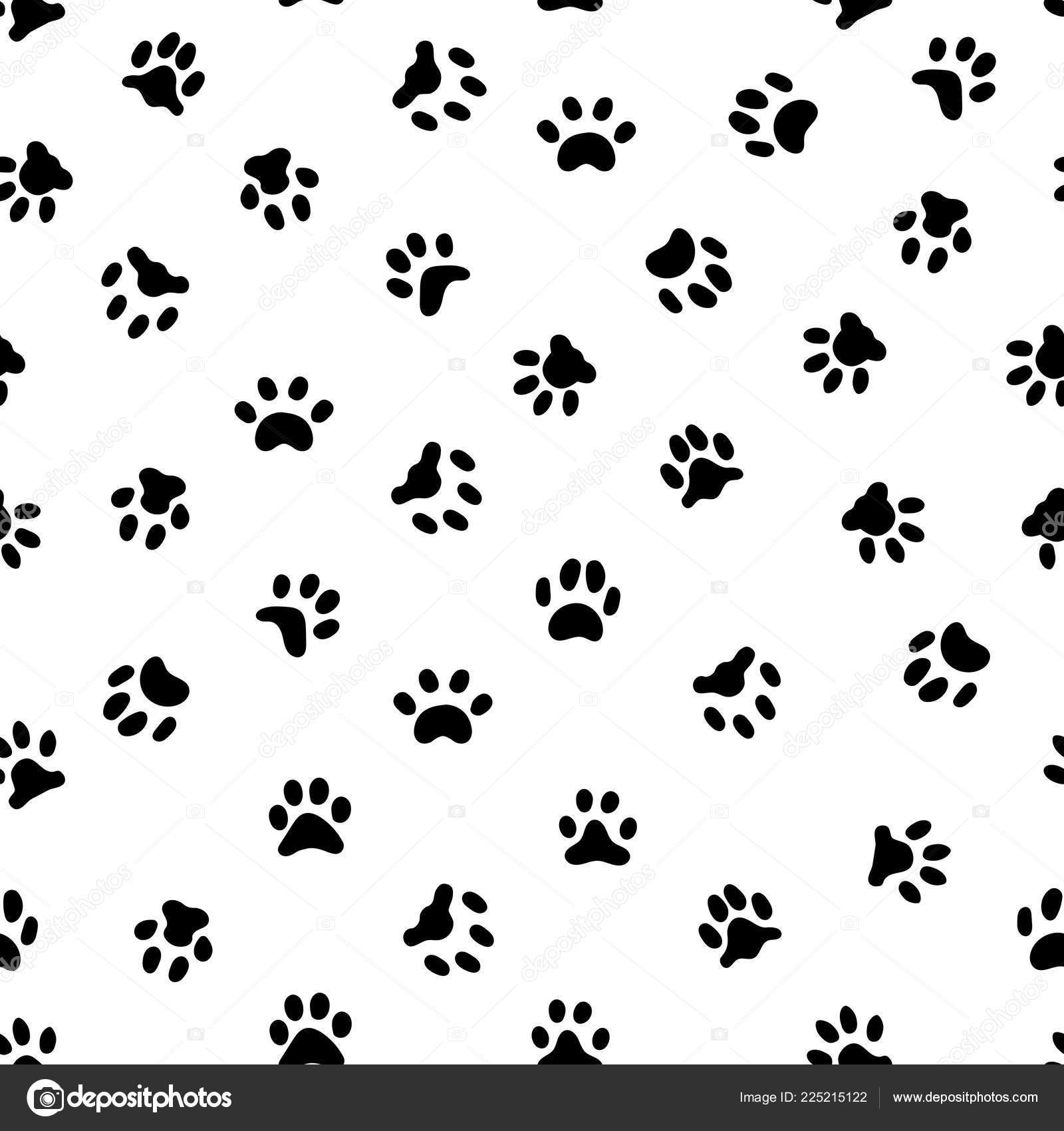 Cats Paw Print Cat Or Dog Paws Footsteps Prints Pets Footprints