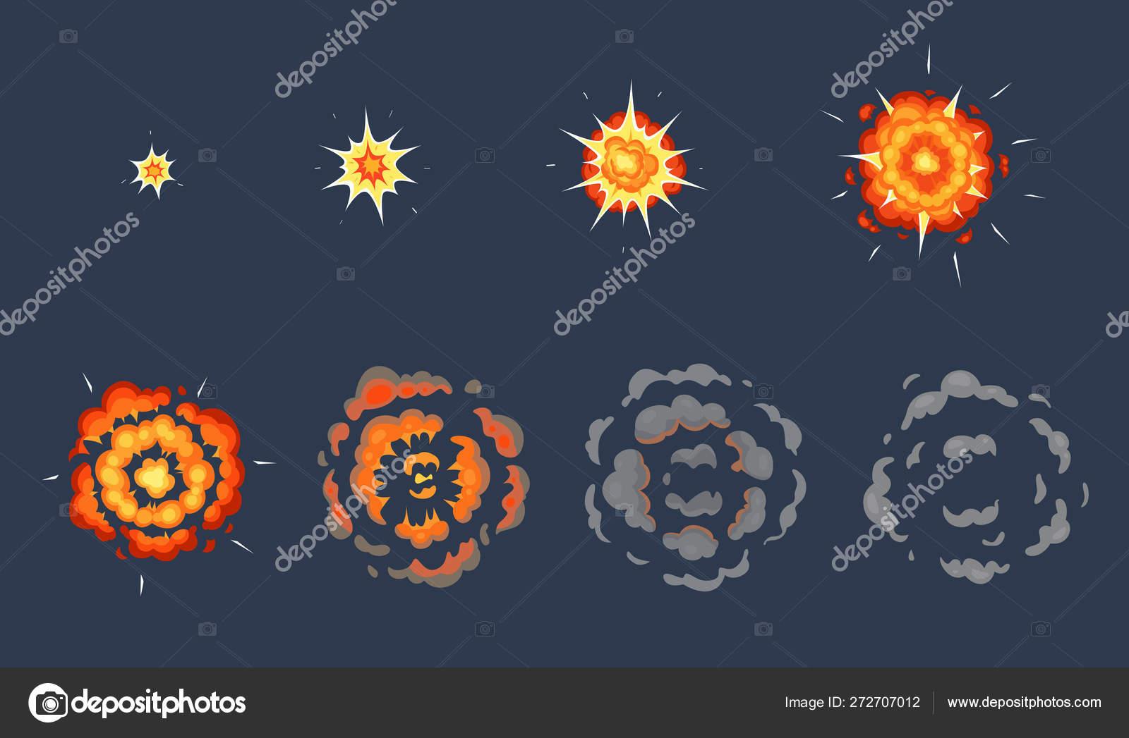 Cartoon explosion animation  Exploding effect frames, animated shot