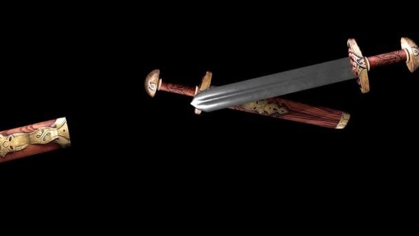 Animation zweier mittelalterlicher Schwerter