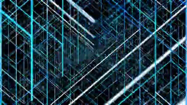 Abstraktní geometrické linie. Náhodné zobrazení bliká vzory