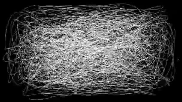 Kritzelte Bewegung Hintergrund. Cartoon animierte Textur. Abstrakte Bewegung der Linien