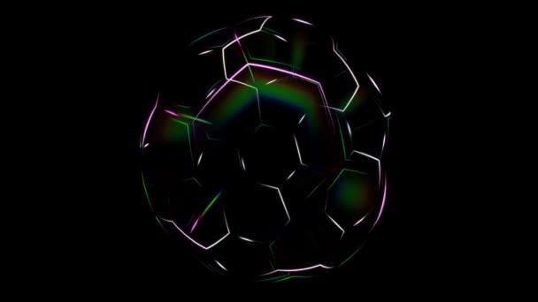 Fotbalový míč animace. Pohyb fotbalový míč obrysy