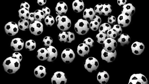 Absztrakt animáció a futball-labda. Végtelenített animationanimated háttér. Futball-labda. Labdarúgás háttér. Futball-labda, mint a részecskék animáció
