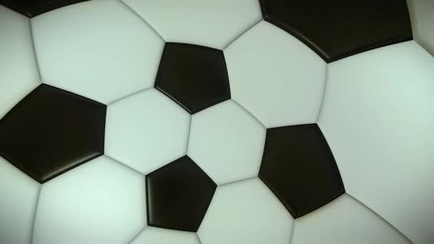 Abstraktní animace fotbalového míče. Smyčky animace. Fotbalová pozadí. 3D objem projekce.