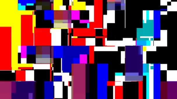 Absztrakt mozgó színes pop art téglalapok